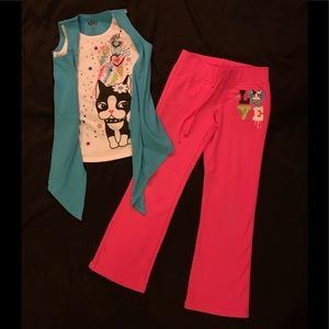 Rebecca Bon Bon Layered Shirt & Fleece Pants